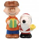 Peanuts Santa Snoopy & Charlie Brown Salt & Pepper Shaker Kitchenware Home Decor
