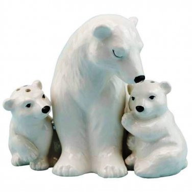 Westland Giftware Mother & Baby Polar Bears Salt and Pepper Shakers Set