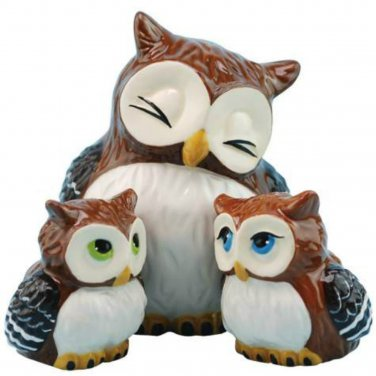 Westland Giftware Mother & Baby Owls Salt and Pepper Shakers Set