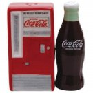 Coca Cola Coke Vending Machine & Bottle Magnetic Ceramic Salt & Pepper Shaker
