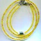 Sunshine Seed Bead Necklace Set