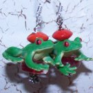 Elissa's Frog Earrings