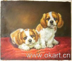 """Oil painting (Dog-001,24""""×36"""")"""