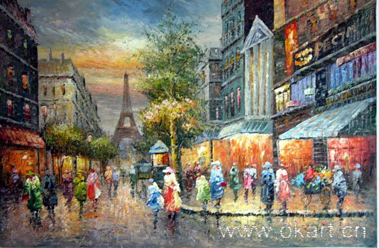 "oil painting (Streetscene-002 24""*36)"