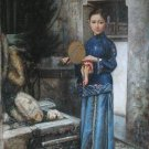 """Oil painting(Chinese people-002,24""""*36"""")"""