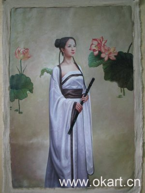 """Oil painting(Chinese people-003,24""""*36"""")"""