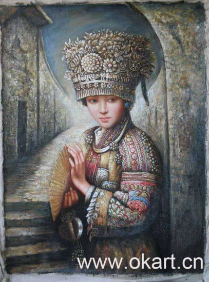 """Oil painting(Chinese people-005,24""""*36"""")"""