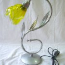 Olive branch fused glass light