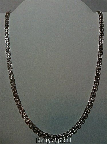 925 Sterling Silver Necklace 9.49 Grams Width 4mm - Length 18 inch