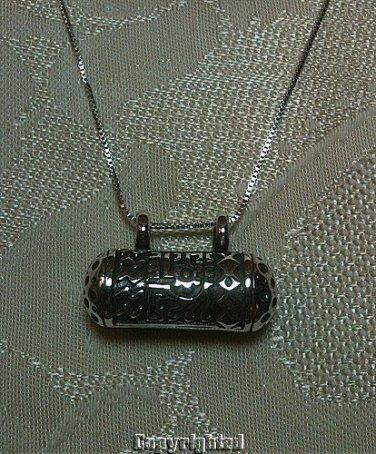 ORNATELY DESIGNED Sliding Pendant w/Necklace Double Bale 925 Silver 11.30 Grams