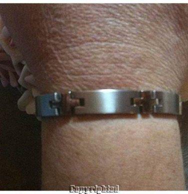 Titanium Men's Bracelet Length 8.5 inch, 8.5