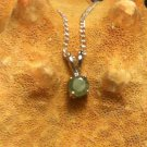 .925 Sterling Silver Inexpensive Natural Emerald Split Bale Pendant & Necklace