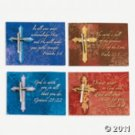 12 Expressions of faith pins on cards
