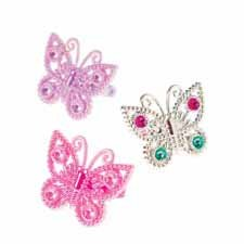 12 Butterfly Rings assorted
