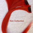 "12""Red Human Hair Clip in Extensions 5pcs"