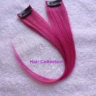 "12""Hot Pink Human Hair Clip In Extensions for Highlight(2pcs)"