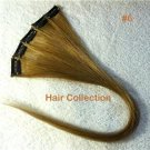 "18""#6(L.Brown) Human Hair Clip on in Extensions for Highlights(5pcs)"
