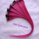 """12"""" Hot Pink  Human Hair Clip-On Extensions for Highlights(5pcs)"""