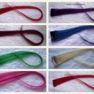 "18""Pink,Blond,Green.Purple,Blue,Red Human Hair Clip In Extensions for Highlights"