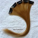 "12"" #27 Strawberry Blonde Human Hair Clip In On Extensions for Highlights(5pcs)"