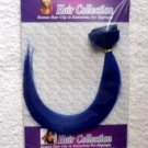 "12""Blue Human Hair Clip On In Extensions for Highlights(5pcs)"