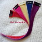"""12""""Purple,Blue,Red,Pink,Blond Human Hair Clip in Extensions for Highlights(5pcs)"""
