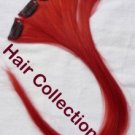 "18"" Red Human Hair Clip on in Extensions for Highlights(5pcs)"