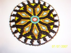 Black & White w/ Diamonds Rosette - 5""