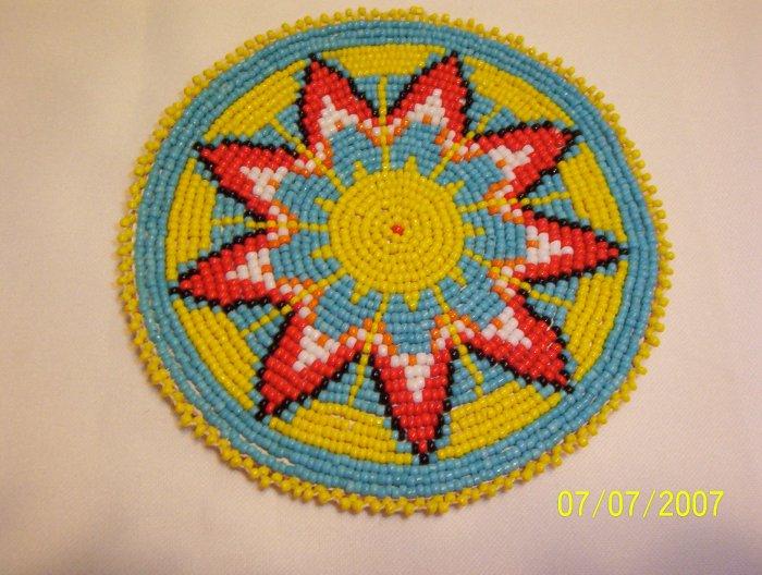 """Starburst Design - Yellow - Rosette - 5"""""""