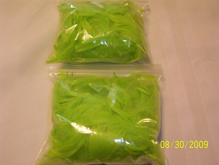 Chartreuse Florette Feathers - 1 oz