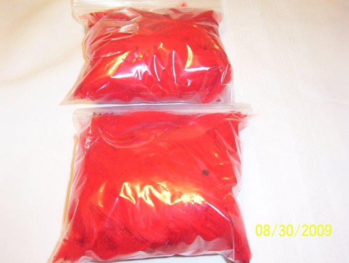 Red Florette Feathers - 1 oz