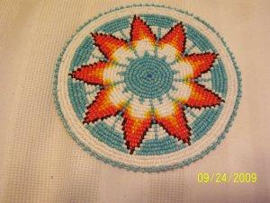 "Starburst Design - Turquoise - Rosette - 5"""