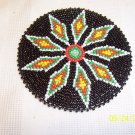 Black w/ Red/White/Green Diamonds Rosette - 4""