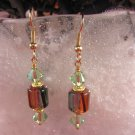 David Christensen Glass Earrings Peridot,Purple,Black,Orange