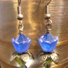 Cobalt Blue lovely Lucite Flower Earring