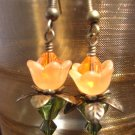 Orange lovely Lucite Flower Earring