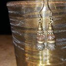 Antique Brass Swarovski Crystal Earrings