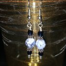 Blue Denim Lapis and Swarovski Crystal Earrings