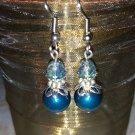 10mm Petrol Swarovski Crystal Pearl Earring