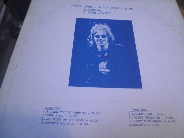 ELTON JOHN SUPER STAR RARE LIVE LP