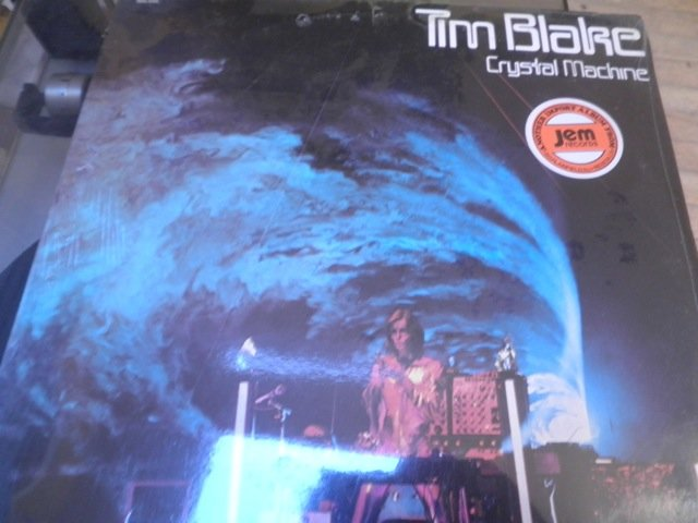 TIM BLAKE - CRYSTAL MACHINE still sealed 1977 SYNTH PSYCH EGG RECORDS LP