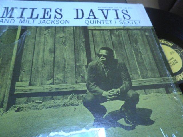 MILES DAVIS / MILT JACKSON QUINTET SEXTET ri LP shrink