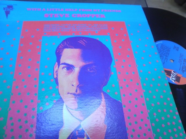STEVE CROPPER - WITH A LITTLE HELP FROM MY FRIENDS orig Volt LP M-