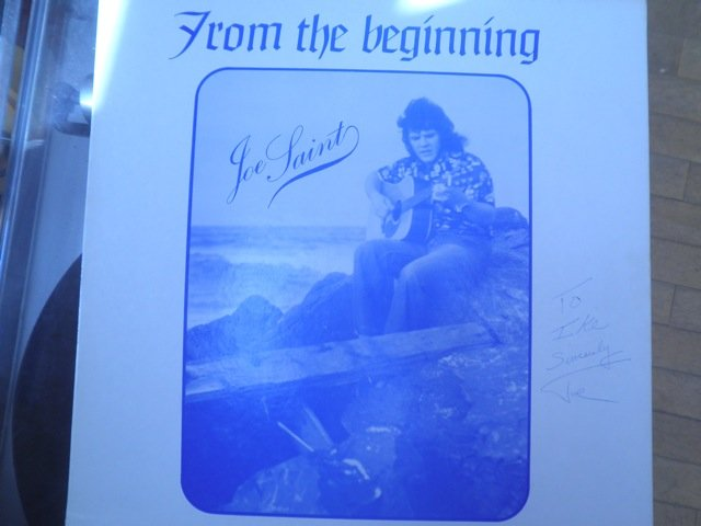 JOE SAINT - FROM THE BEGINNING 1973 private folk psych SIGNED LP M-