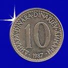"""""""10 DINARA 1987 Jugoslavije"""""""