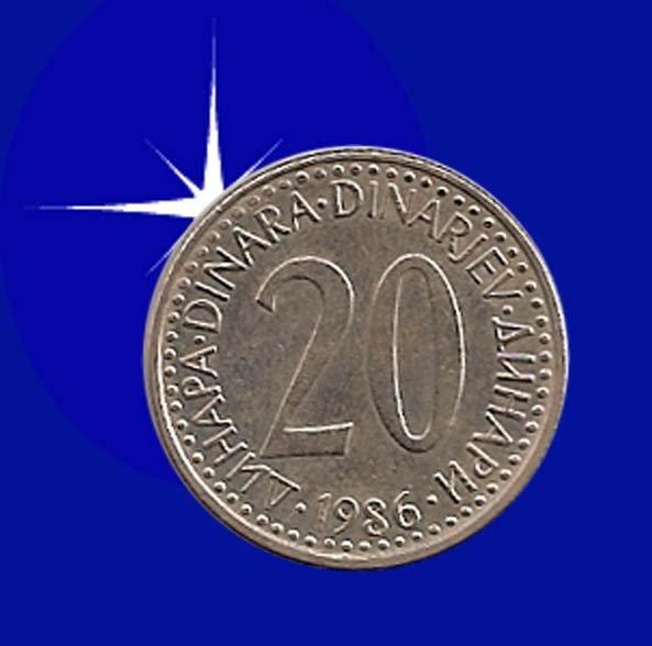 """""""20 DINARA 1986 Jugoslavija"""""""