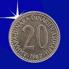 """""""20 DINARA 1987 Jugoslavije"""""""