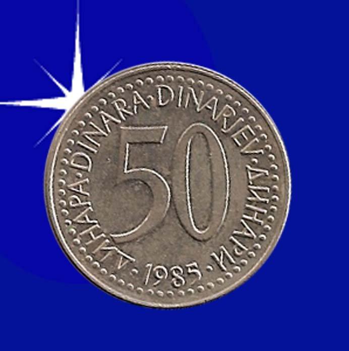 """""""50 DINARA 1985 Jugoslavije"""""""