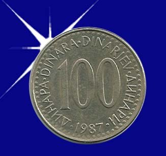 """""""100 DINARA 1987 Jugoslavije"""""""