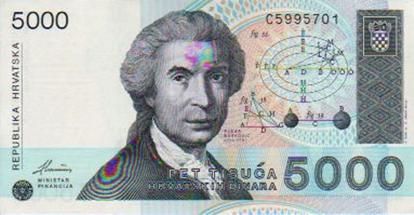 5000 hrvatskih Dinara 1992. UNC.
